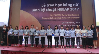 TDC female students receives 2017 HEEAP Technical Female Students Scholarship