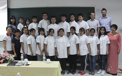 The opening ceremony of the 1st bakery class in the bakery project between TDC and IECD